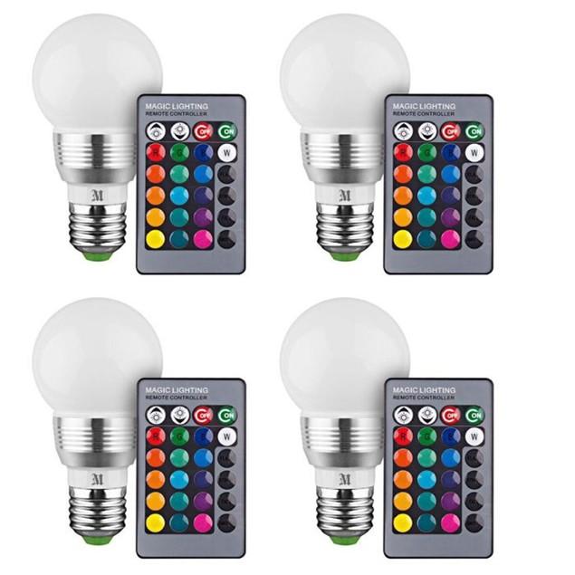 4-Pk. Massimo RGB Round Bulbs