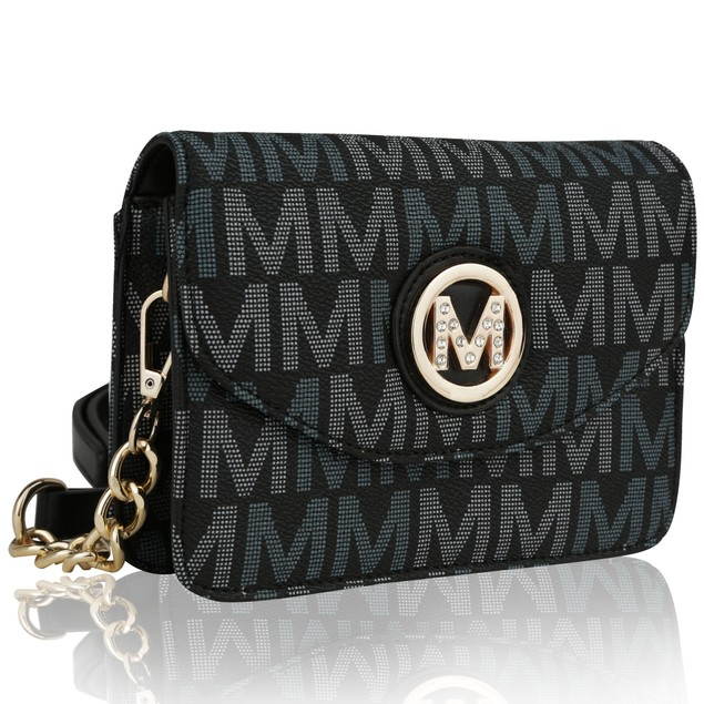 MKF Collection Ferrara M Signature Cross Body Bag by Mia K