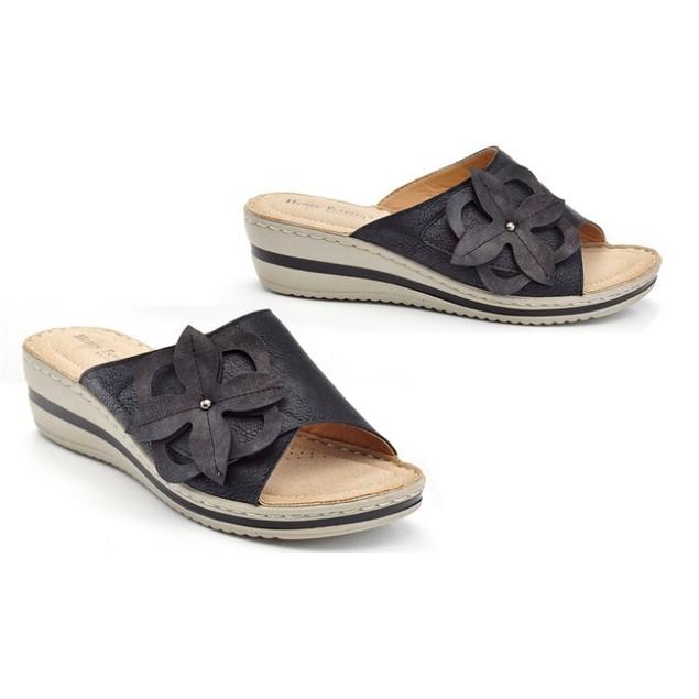 Women's Slip on Casual Comfort Wedge Flower Sandals
