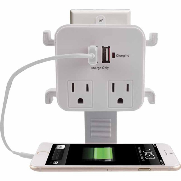 Vivitar USB & Outlet Charging Station with Surge Protection