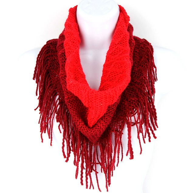 Britt's Knits Fringe Benefits Ombre Scarf