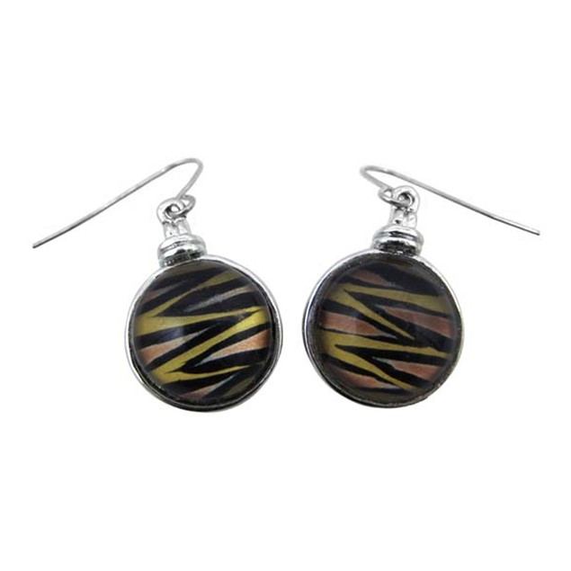 Beautiful Tiger Stripe Snake Necklace & Earrings Womens Earring And