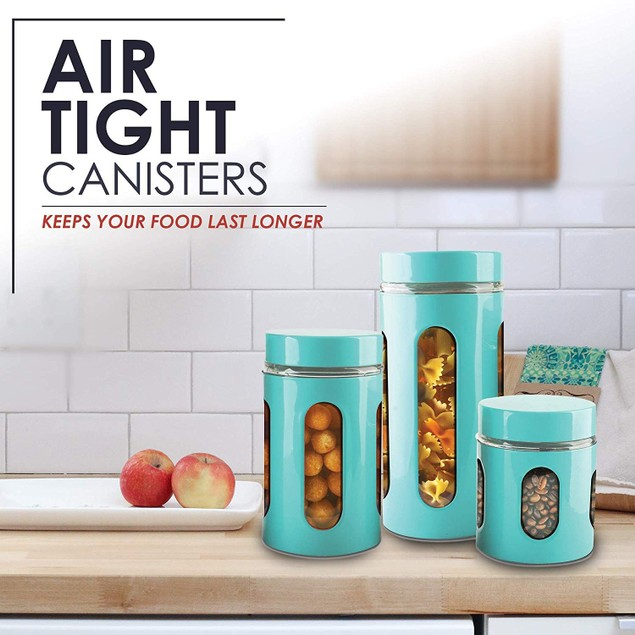 Air Tight Window Cylinder Canister Set