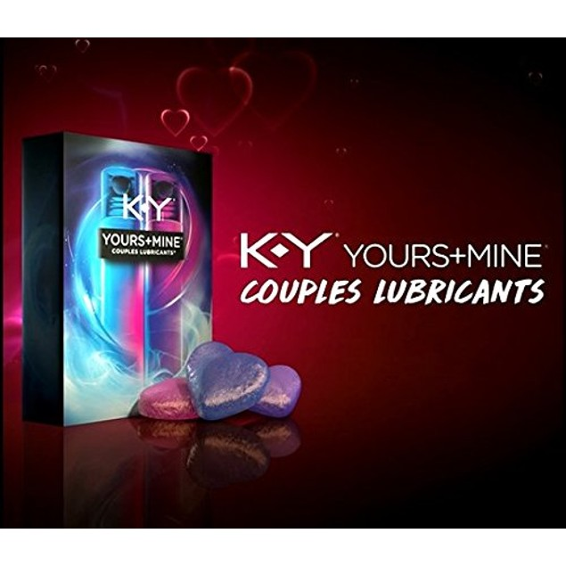 KY Yours and Mine Couples Lubricants - 2 Tubes (1.5 Oz Each)