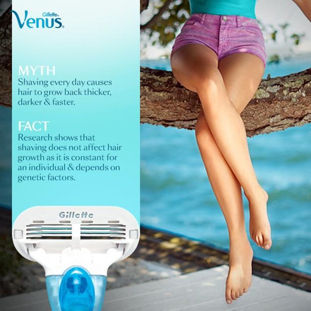 Gillette Venus Embrace Women's Razor + 5 Refill Blade Cartridges