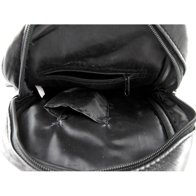 Black Leather Crossbody Bag With Small Phone Mens Cross Body Bags