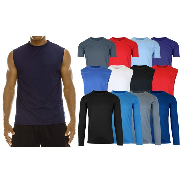 2-Pack Men's Moisture-Wicking Wrinkle-Free Performance Tops (S-2XL)