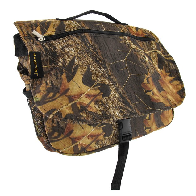 Forest Camouflage Messenger Bag With Black Trim Messenger Bags