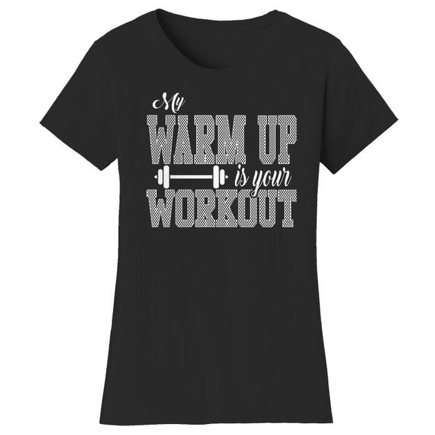 Workout Short Sleeve Crew Neck Graphic Tshirt