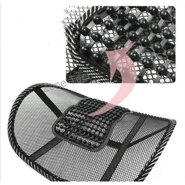 Zone Tech 10x Black Mesh Massage Lumbar Back Seat Chair Posture Support