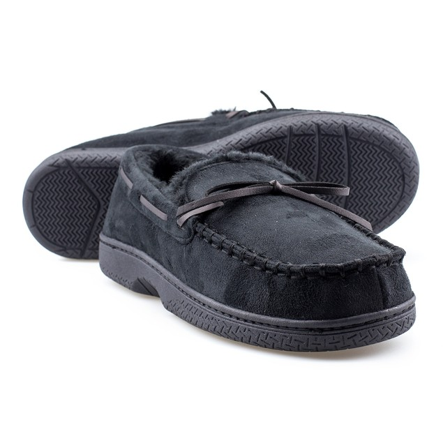 Mens Memory Foam Durable Comfortable Slip On Moccasin Slippers