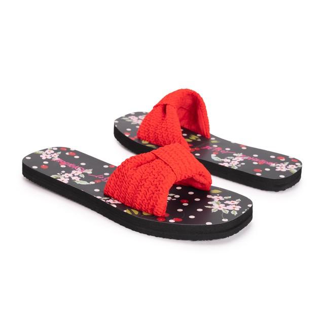 Betsey Johnson Women's Knot Slide Sandals