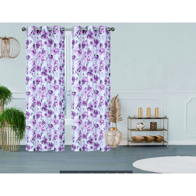 """2-Pack 76"""" x 84"""" Printed Triple Weave Blackout Panels with 6 Grommets"""