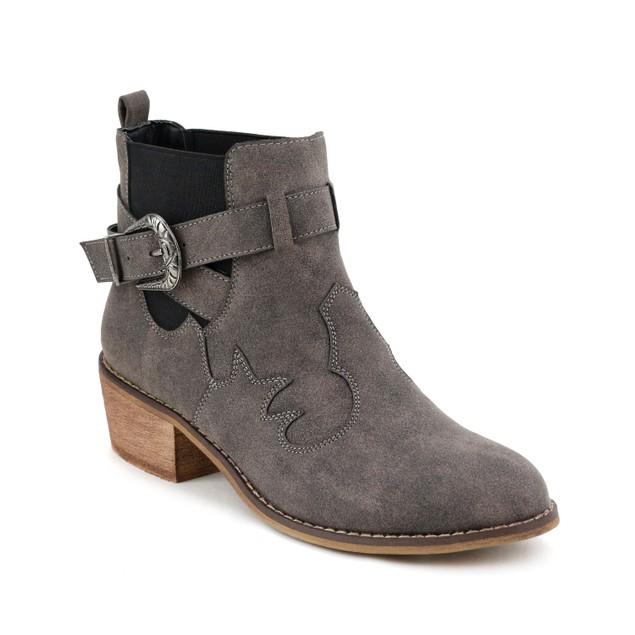 Olivia Miller 'Baldwin' Chunky Heel Western Buckle Ankle Booties