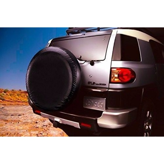 Zone Tech Large Metallic Car Auto Spare Tire Wheel Stretchable Cover