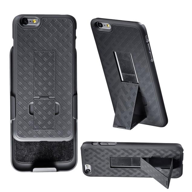 Encust Combo Case W/ Kickstand & Holster- iPhone 7/7, 8/8 Plus & 6/6s Plus