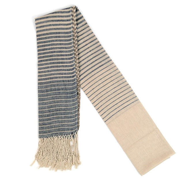 3-Pack Assorted Striped Light Viscose Scarf