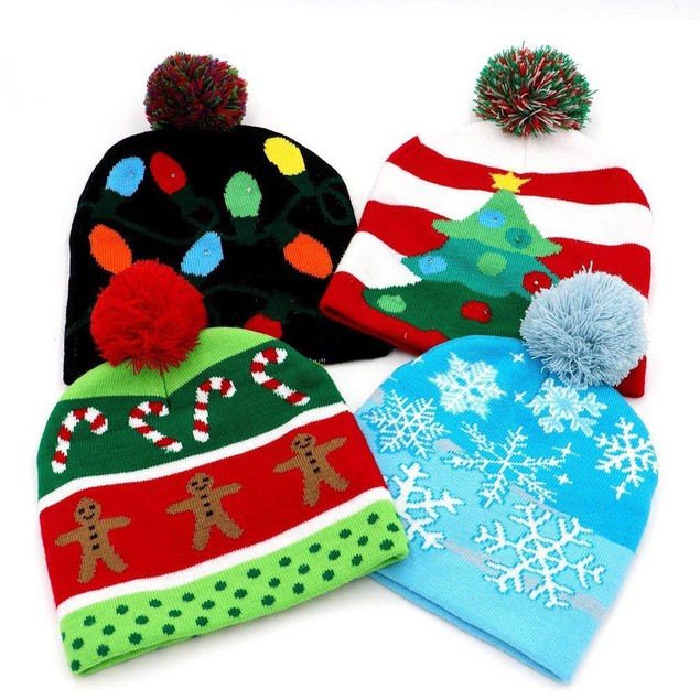 LED Holiday Christmas Beanie