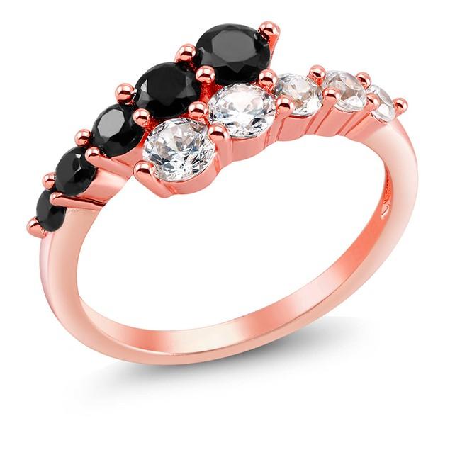 Cubic Zirconia Rose Gold Fancy Ring