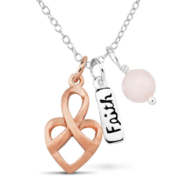 Sterling Silver Inspirational 3-Piece Charm Necklace - Choose Style
