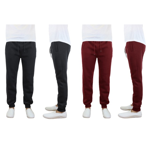 2-Pack Galaxy By Harvic Men's Lounge Fleece Jogger Pants