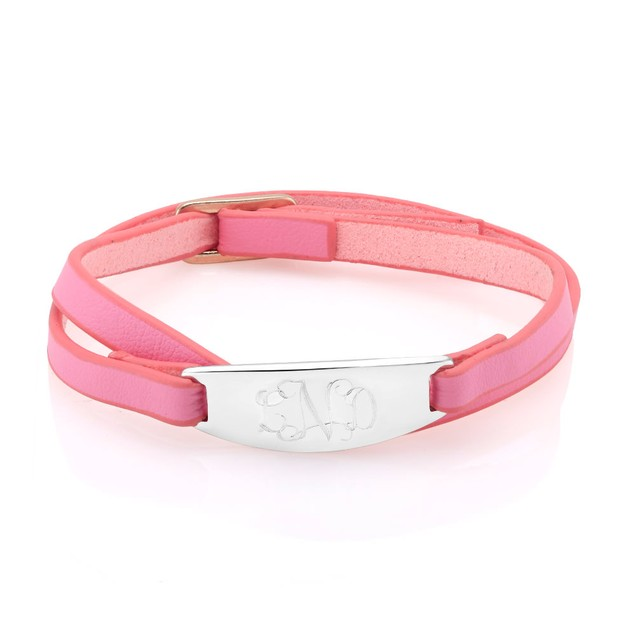 Monogrammed Leather Bracelets - 3 Colors