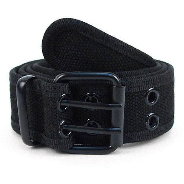 Twin-Pack Assorted Men's Double Hole Canvas Belts