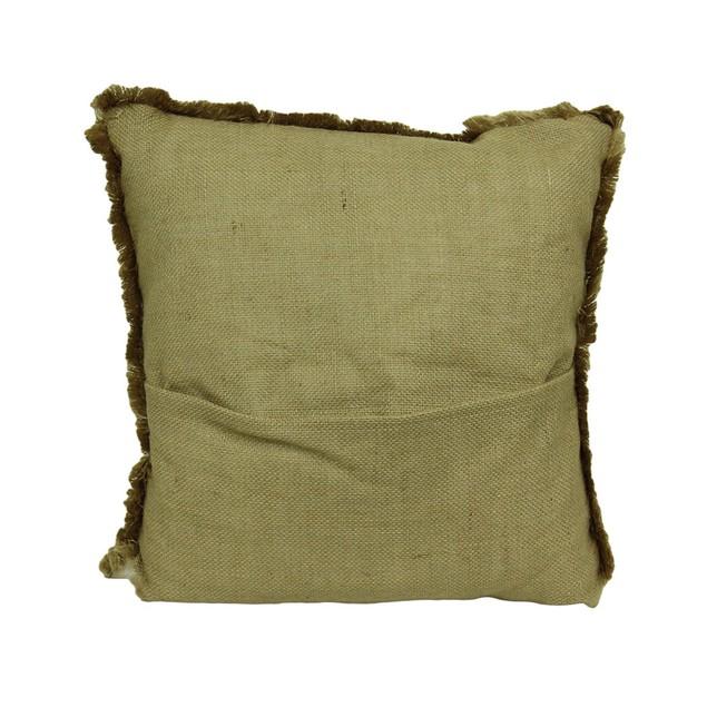 Farm To Table Fringed Burlap Throw Pillow Set Of 3 Throw Pillows