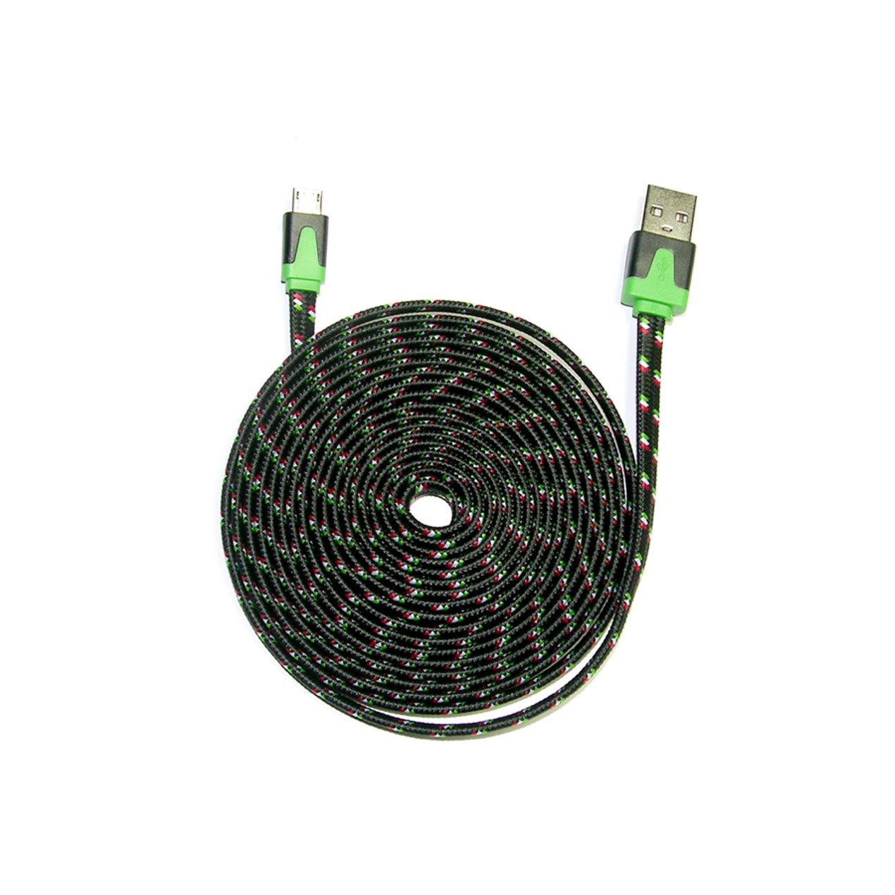 3-Pack: iCover 10ft Flat Shoelace Cable - Micro USB - Tanga