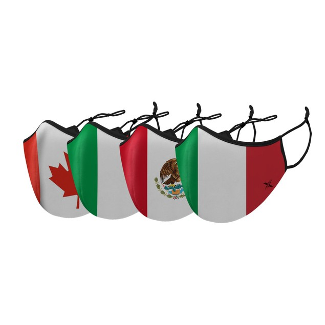 Double Layer Washable & Reusable Flag Masks With Adjustable Loop (3 -Pack)