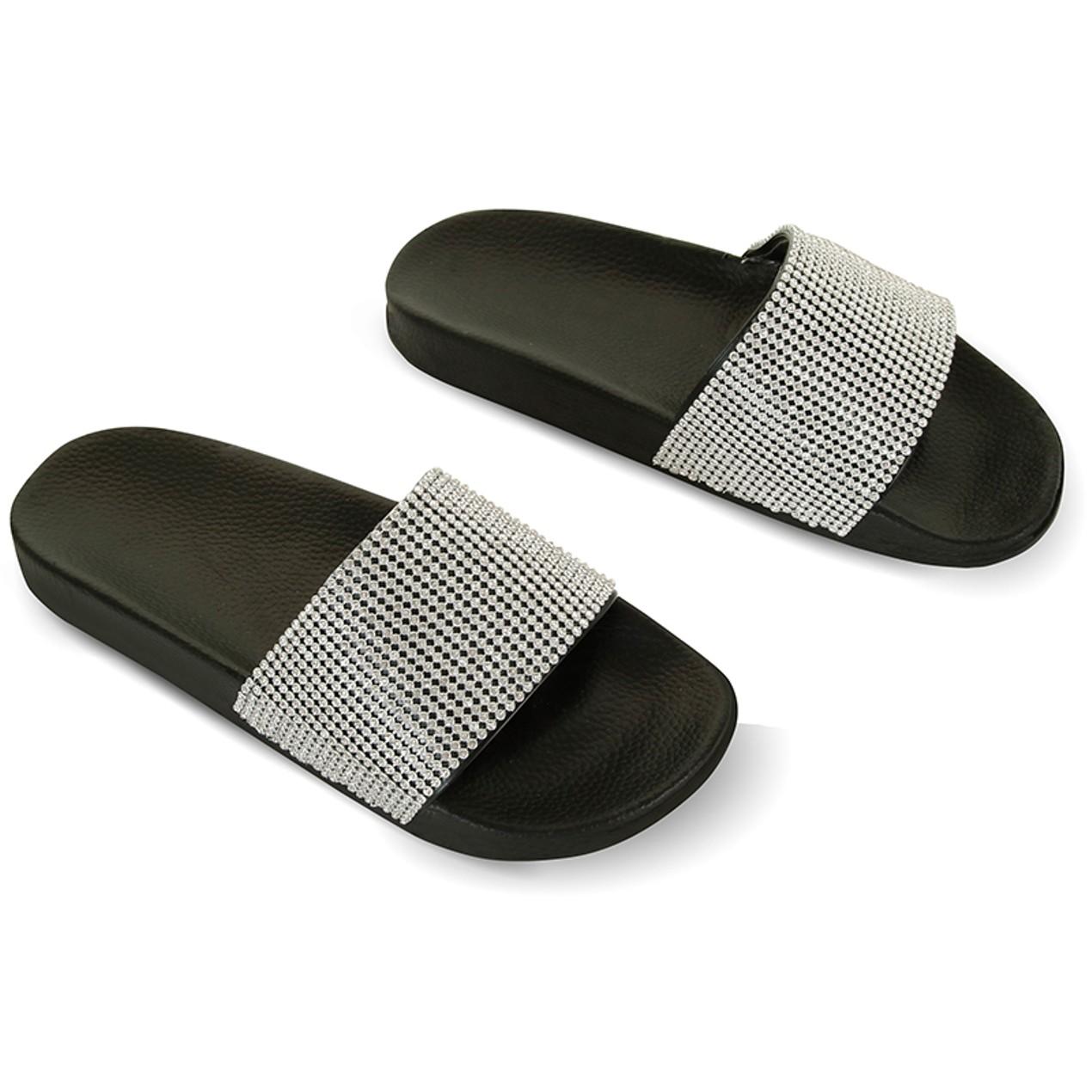 e219f64bb6afc9 Women s Chatties Rhinestone Slide Sandals Women s Chatties Rhinestone Slide  Sandals ...