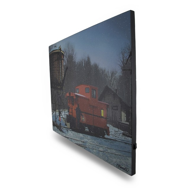 Flickering Led Train Caboose Lighted Canvas Wall Prints