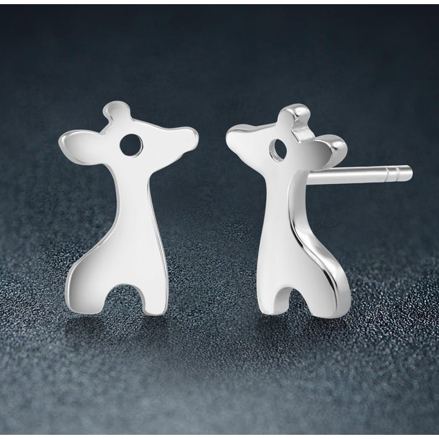 Sterling Silver Giraffe Stud Earrings
