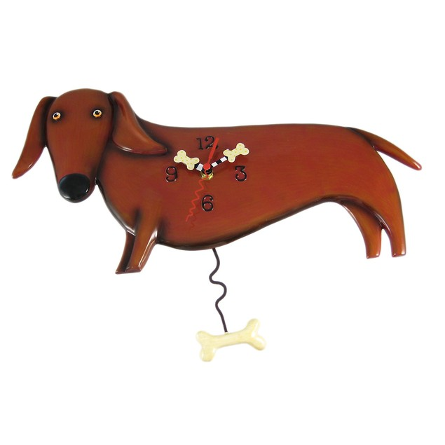Allen Designs Oscar Dachshund Dog Wall Clock Wall Clocks