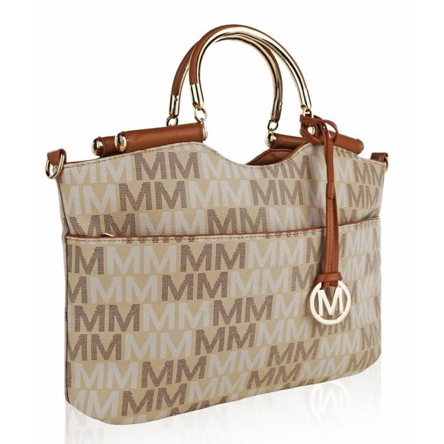 MKF Collection Mayra Milan M Signature handbag by Mia K Farrow