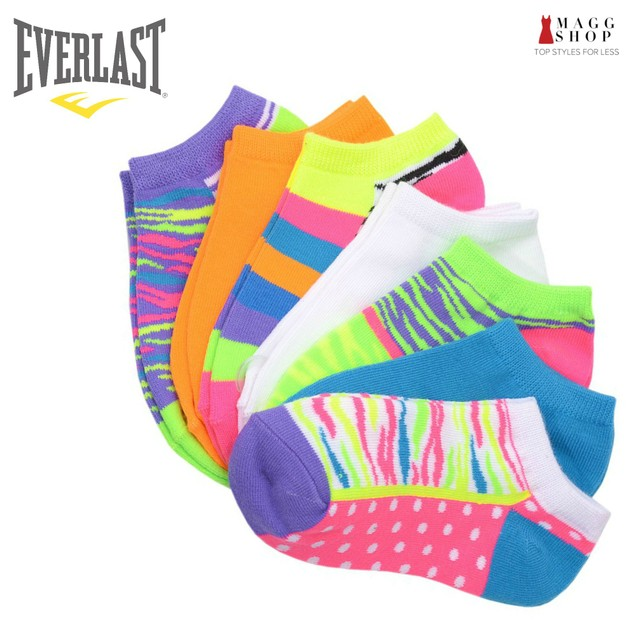 Everlast Womens No Show Athletic Ankle Socks 21 pack