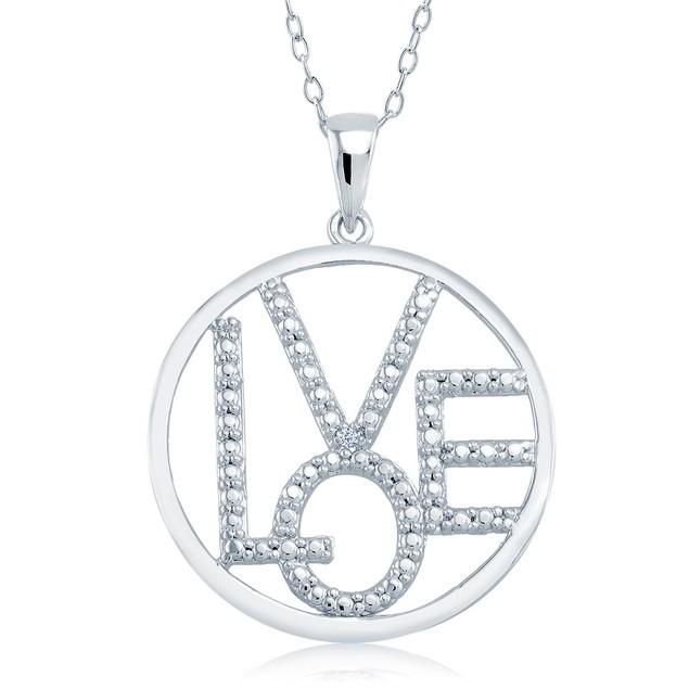 1/10cttw Diamond Accent Love Necklace