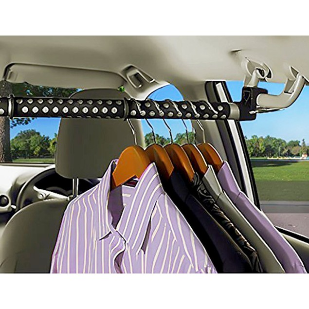 Zone Tech Expandable Car Clothes Hanger Clothing Rod Bart Garment Rack
