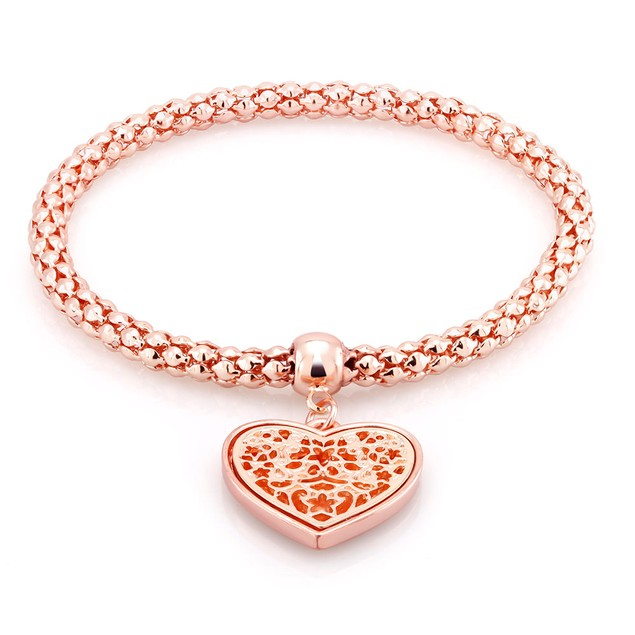 Filgree Heart Charm Bracelet - 3 Colors