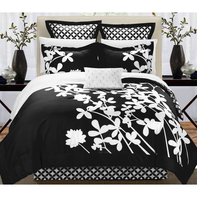 Chic Home 7 Pc. Niris Reversible Large Scale Floral Design Comforter Set