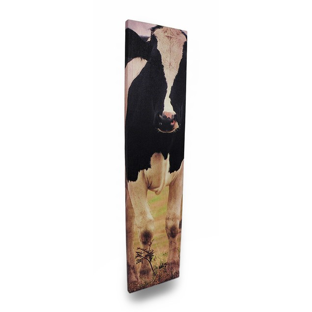 42 X 10 Holstein Cow Printed Canvas Wall Hanging Prints