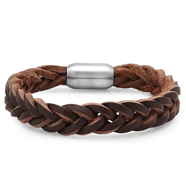 Braider Brown Leather Bracelet