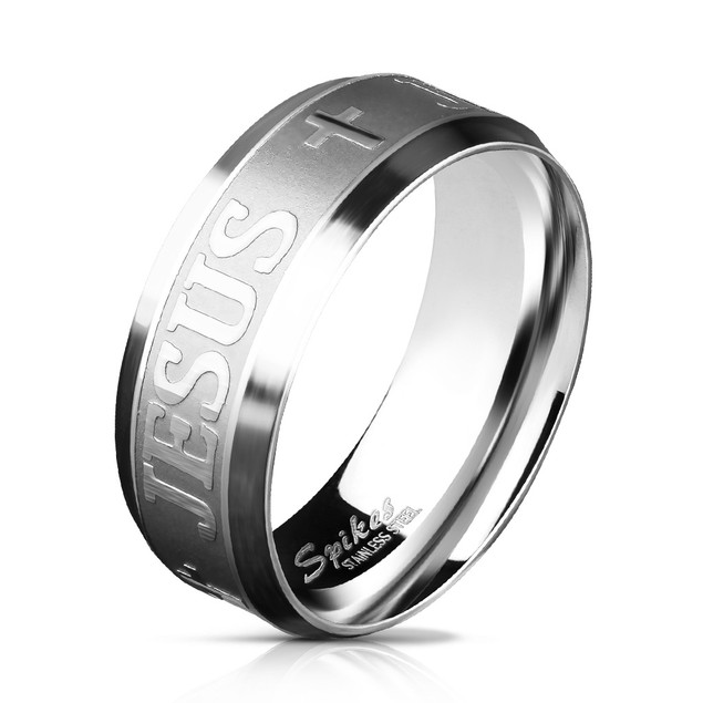 Jesus Style Stainless Steel Comfort Fit Mens Band