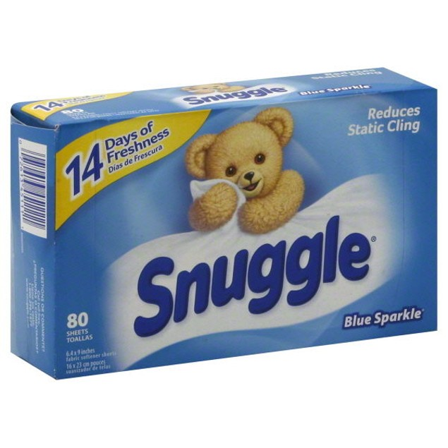 Snuggle Dryer Sheets Blue Sparkle Scent Fabric Softener 80 Ct Box
