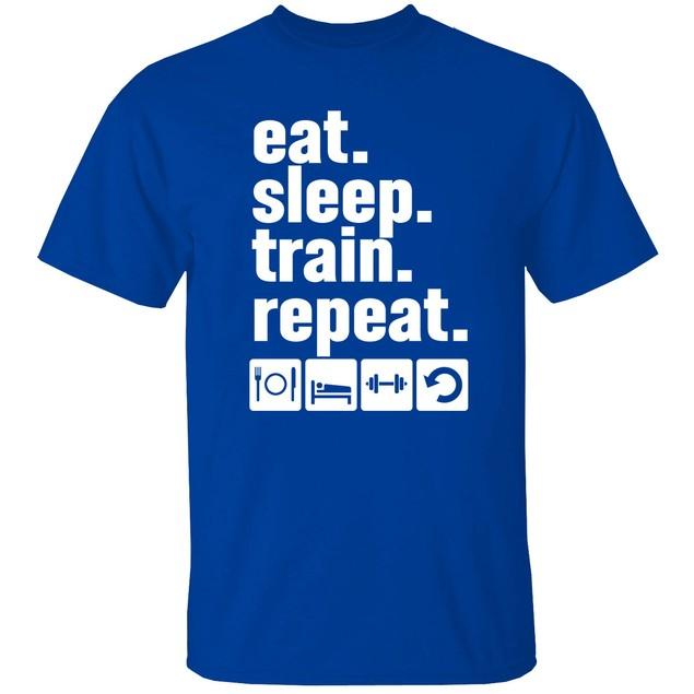 EatSleep Short Sleeve Crew Neck Graphic Tshirt