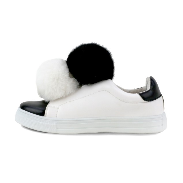 Olivia Miller 'Baywood' Double Pom Pom Two Tone Sneakers