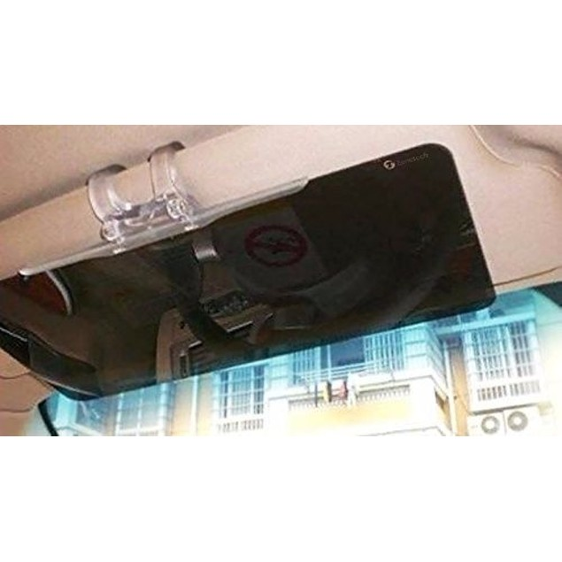 Zone Tech Tinted Clear View Car Sun Visor Extender Extension
