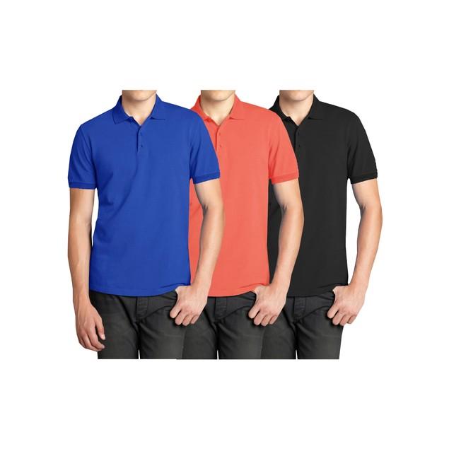 3-Pack Men's Comfort Poly Tech Pique Polo Shirt