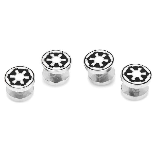Set Of 4 Star Wars Imperial Empire Symbol Tuxedo Mens Shirt Studs