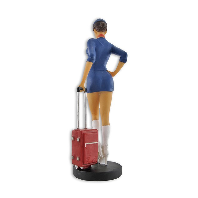 Retro Look Stewardess Statue Flight Attendant Statues